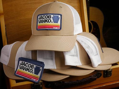 Khaki and White Trucker Hat