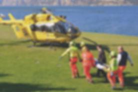 Helikopter kurtarma ekibi