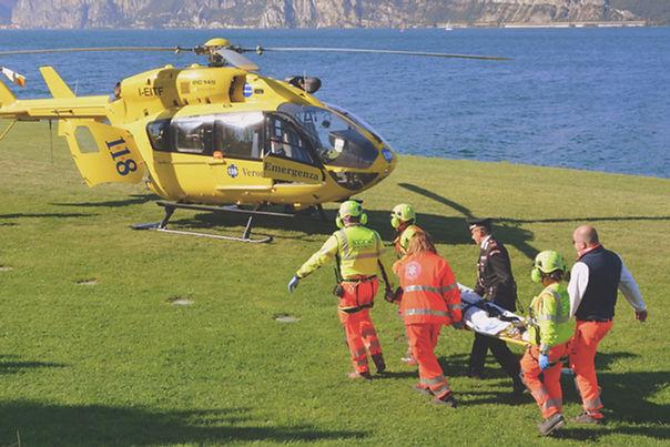 Hubschrauber-Rettungsmannschaft
