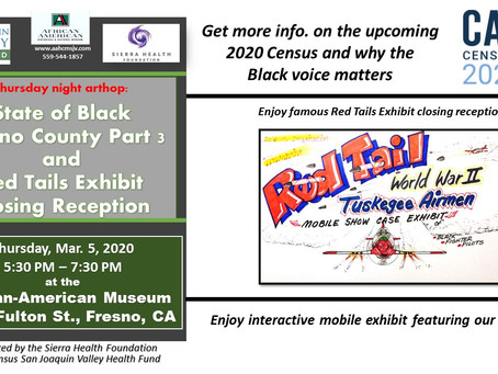 The African-American Museum and the San Joaquin Valley Health Fund host Red Tails closing reception