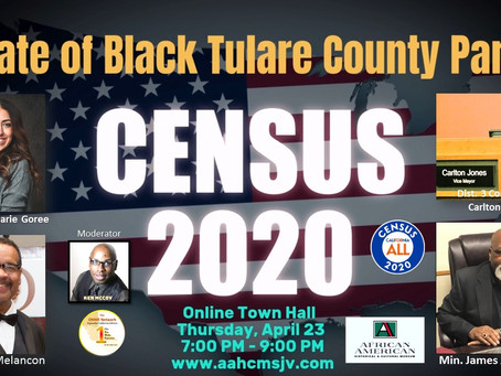 2020 Census: State of Black Tulare County two town halls to do virtual chat on total Black health