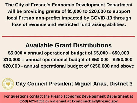 City of Fresno extends application deadline for the 'Save Our Non-Profits' grant program