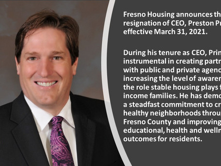 After nearly 14 years of service, Fresno Housing CEO resigns to pursue new chapter