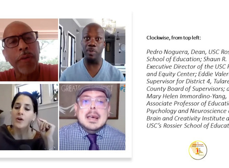 ONR:  Watch COVID-19 'Education Crisis in California:  The Racial Inequity Gap' part 2 now
