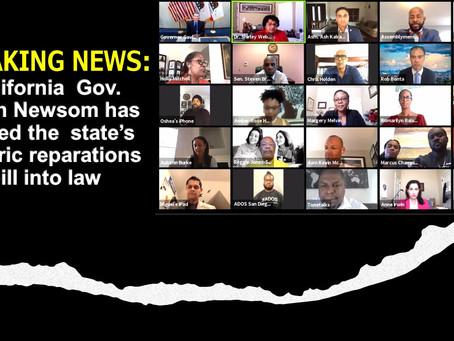 BREAKING NEWS:  California Gov. Newsom signs reparations bill into law