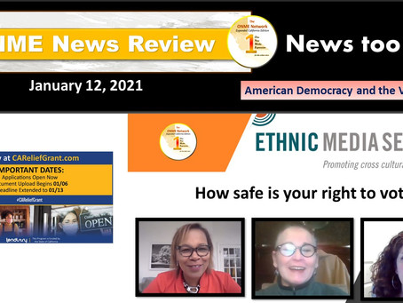 ONR 1-12-21:  American Democracy and the Vote Part 2 - How safe is your right to vote? contd