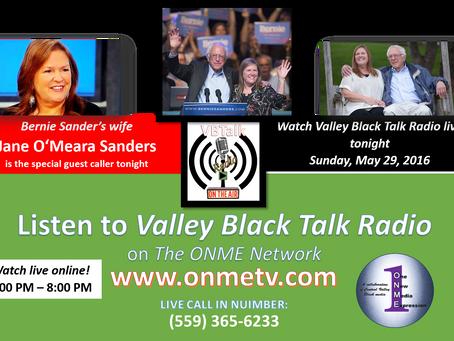 Jane Sanders, wife of Bernie Sanders to speak on Valley Black Talk Radio tonight