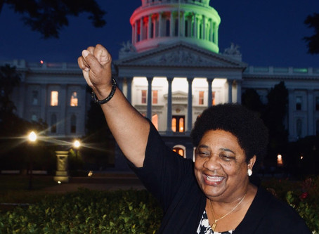 The California Legislative Black Caucus lights up the State Capitol in recognition of Juneteenth
