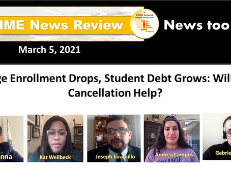 ONR: College enrollment drops as student debt grows: Is debt cancellation enough?