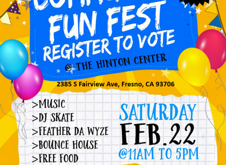 Community Fun Fest this Saturday at the Hinton Community Center will stress voting and census