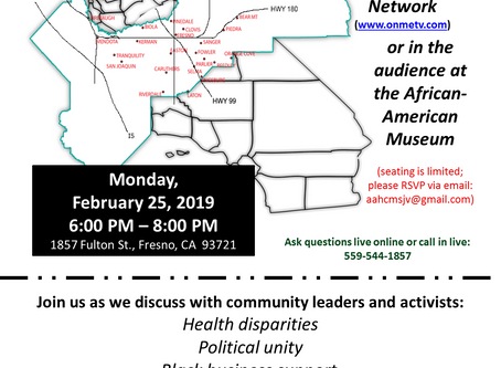 The State of Black Fresno County forum this Monday to discuss staggering statistics