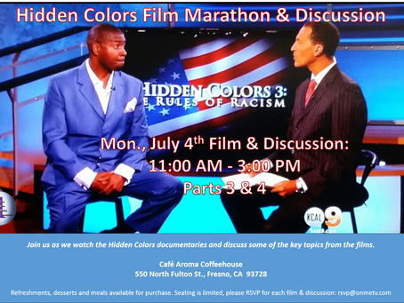 ONME's Valley Black Talk Radio host the Hidden Colors Marathon & Discussion
