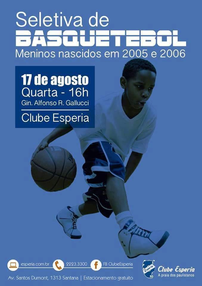 CLUBE EM SÃO PAULO SELECIONA NOVOS TALENTOS PARA TIME MASCULINO