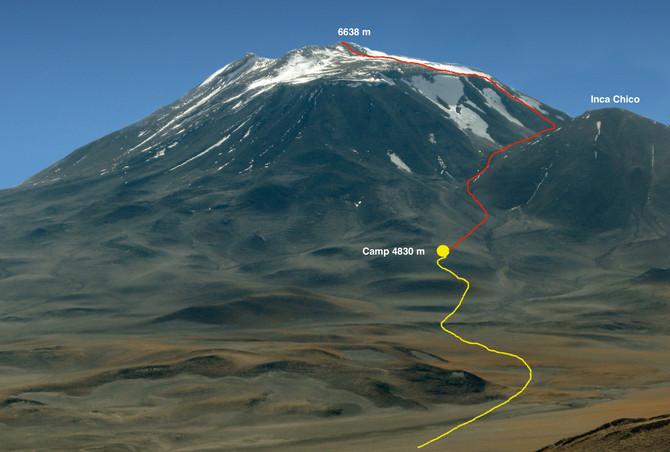 Arkaitz Ibarra esta a 4830 m en el Incahuasi