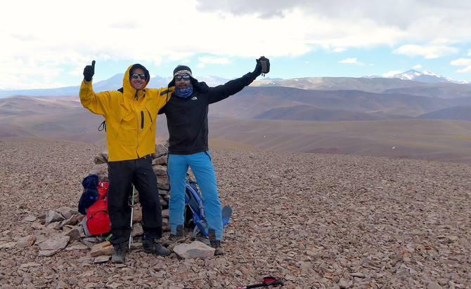 Primer ascenso documentado al Tostado Negro (4746 m)