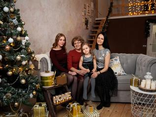Новогодняя семейная фотосессия.