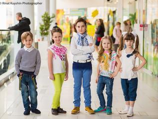 Фотосессия для магазинов Acoola, Benetton, Gulliver, Fun Day и Gloria Jeans. В роли моделей воспитан