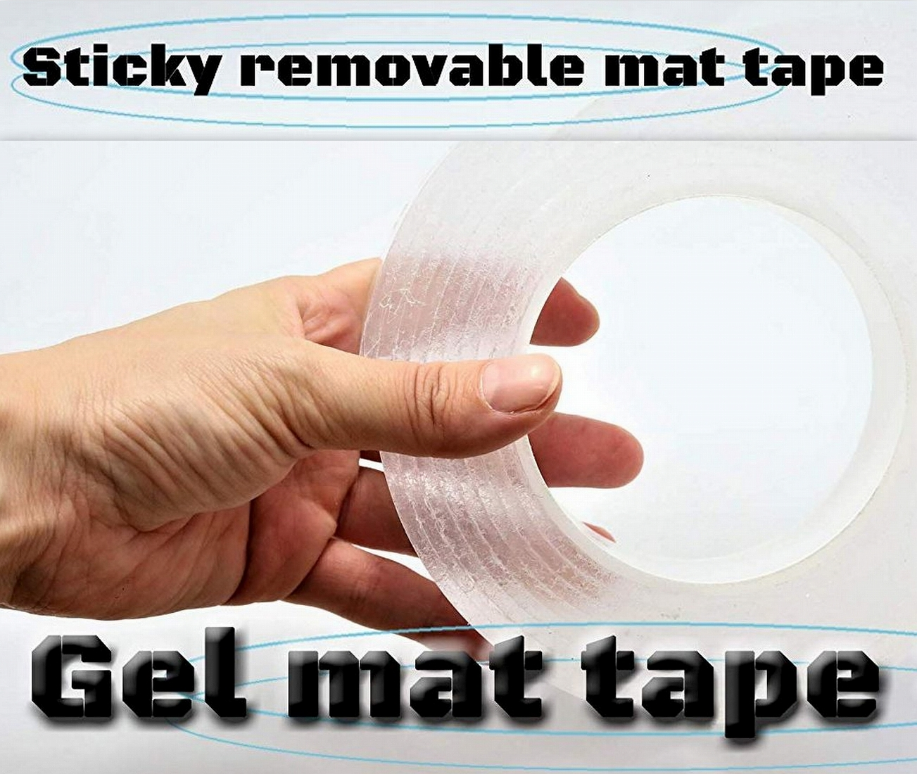 Sticky  removable mat tape