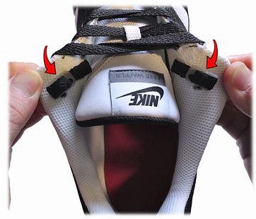 レースアンカーはほどけない靴紐留めです。