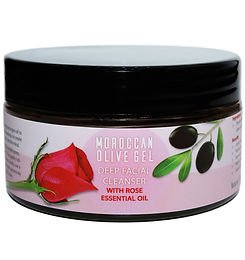 Moroccan Olive Facial Cleanser With Rose + Konjac Spnge