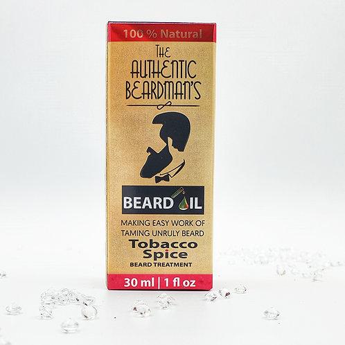 The Authentic Beardman's Beard Oil - Tobacco Spice (30ml)