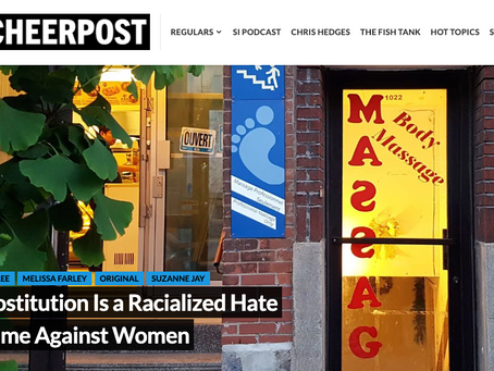 Scheerpost: Prostitution Is a Racialized Hate Crime Against Women