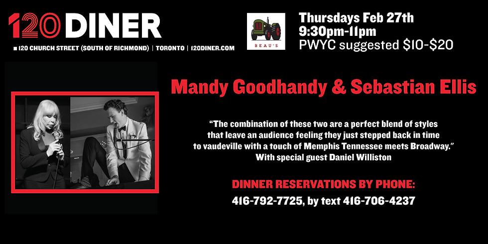 Mandy Goodhandy & Sebastian Ellis at 120 Diner