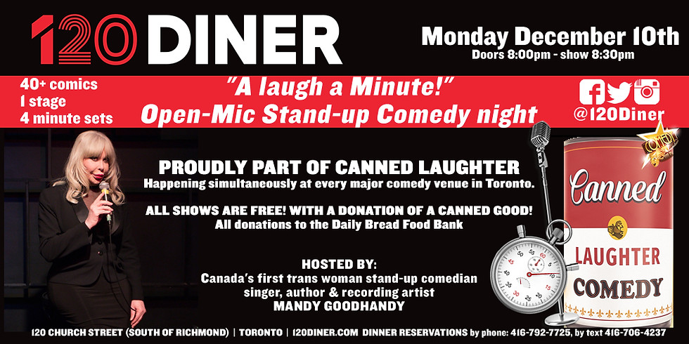Canned Laughter at 120 Diner