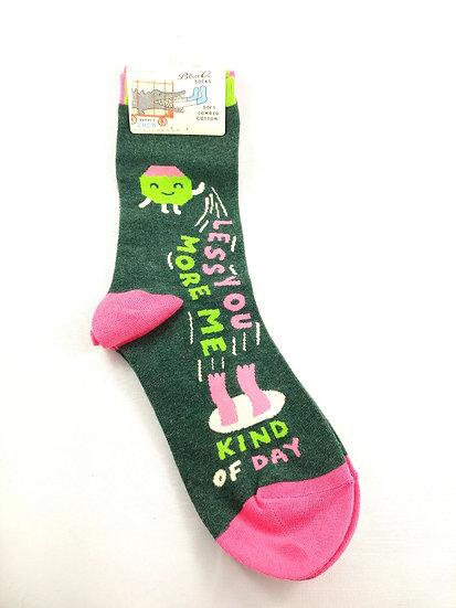 Less You, More Me Ladies Crew Socks