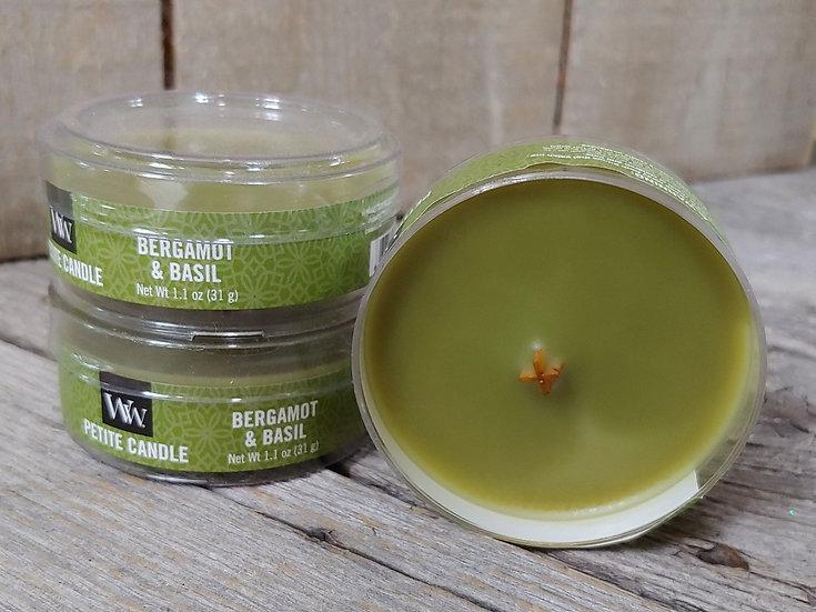 WoodWick- Petite Candle- Bergamot & Basil
