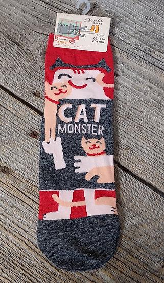 Cat Monster  - Ankle Socks