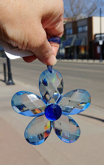 Flower Suncatcher- Blue