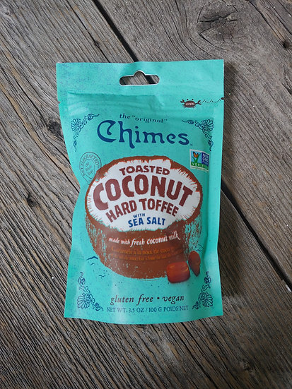 Chimes Toasted Coconut Hard Toffee - Vegan & Gluten Free