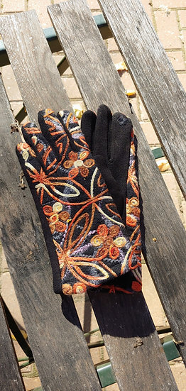 Fall Flower - Gloves