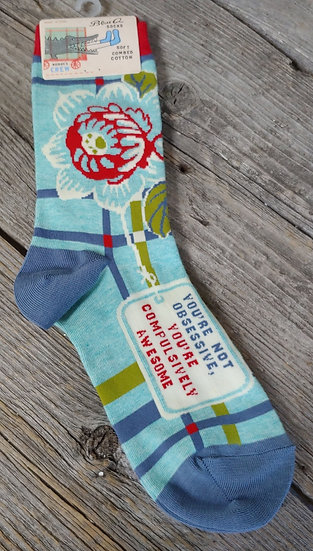 Compulsively Awesome -Women's Crew Socks