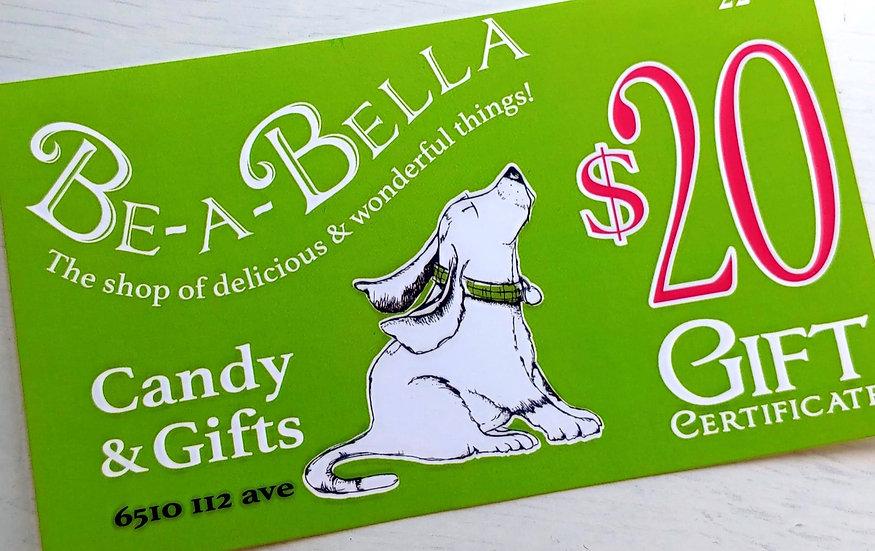 Be-a-Bella $20Gift Certificate