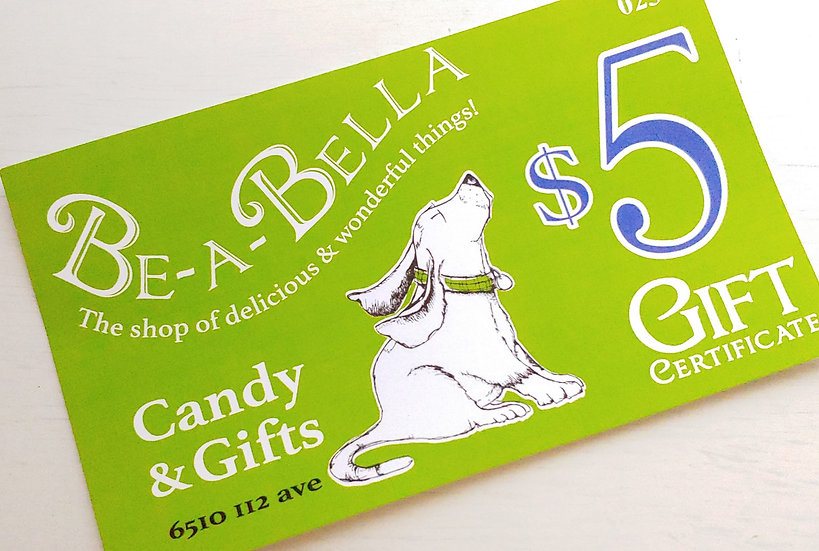 Be-a-Bella $5 GiftCertificate