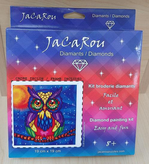 Owl- 19cm x 19 cm Diamond Painting Kit