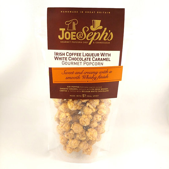 Irish offee Liqueur with White Chocolate Caramel Popcorn