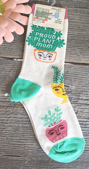 Proud Plant Mom - Women's Crew Socks
