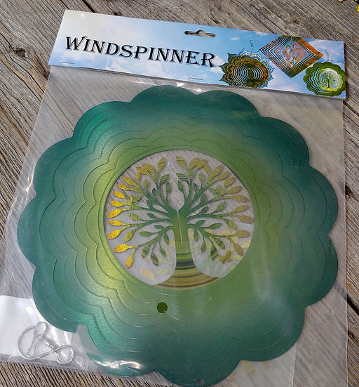 Tree of Life Wind Spinner- Stainless Steel