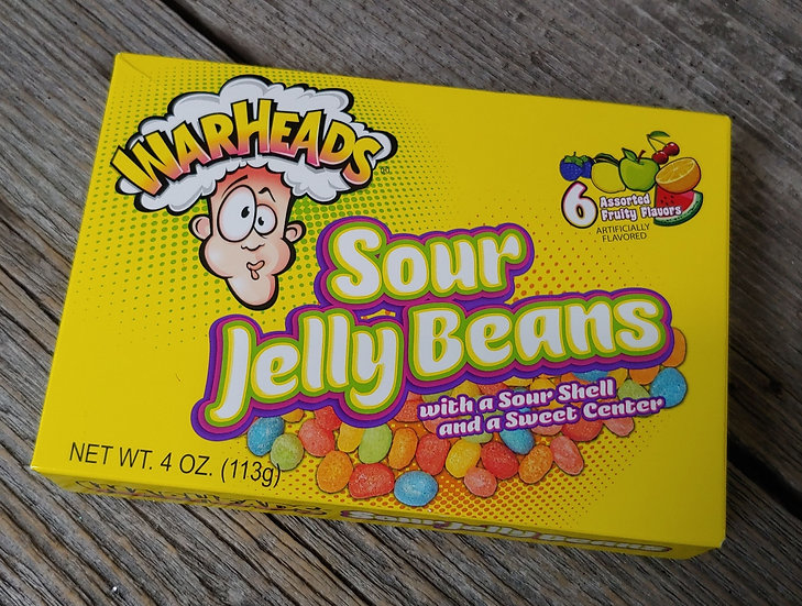 Warheads Sour Jelly Beans -Theatre Box