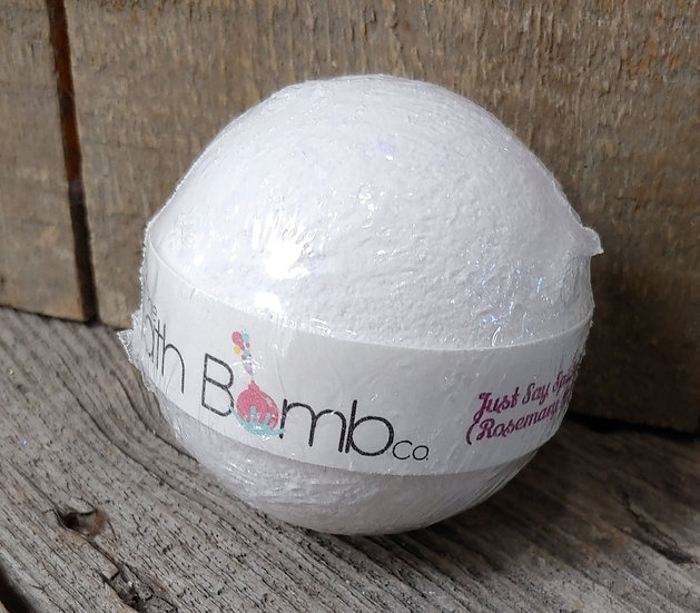 Bath Bomb - Just Say Spa - Rosemary & Pepperment Oil