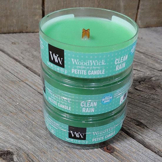 WoodWick Petit Candle- Clean Rain