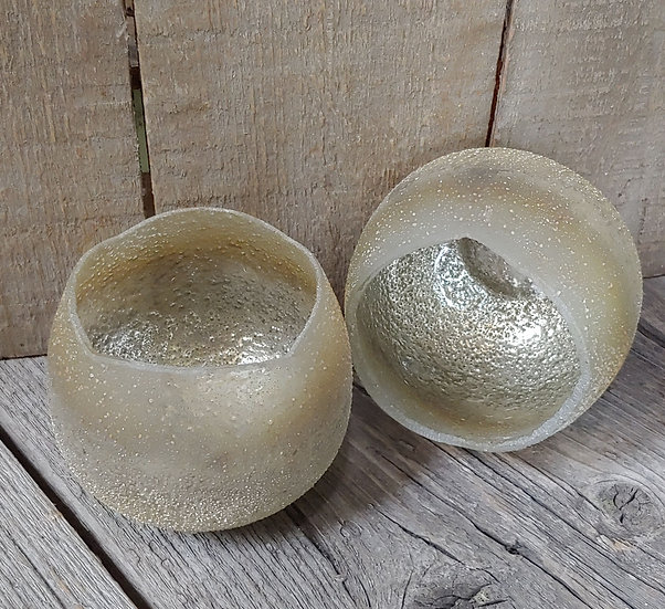 Tulip Candle Holder - Champagne