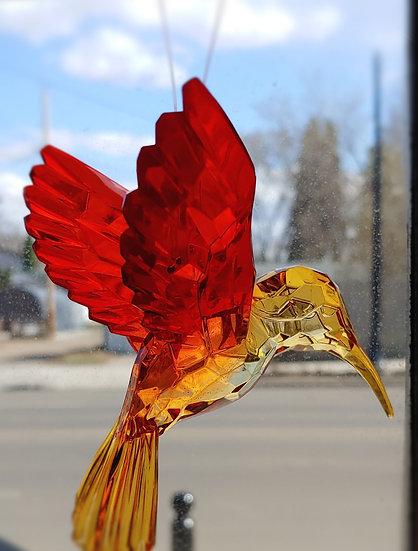 Hummingbird Suncatcher- Orange