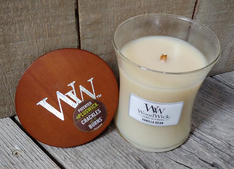 WoodWick Candle -9.7 oz -Vanilla Bean
