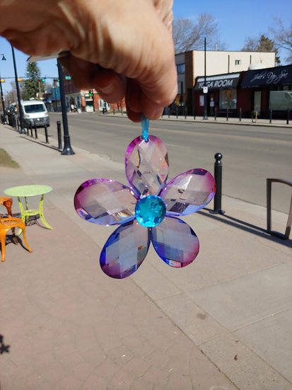 Flower Suncatcher- Blue/Purple
