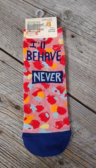 I'll behave NEVER - Ankle Socks