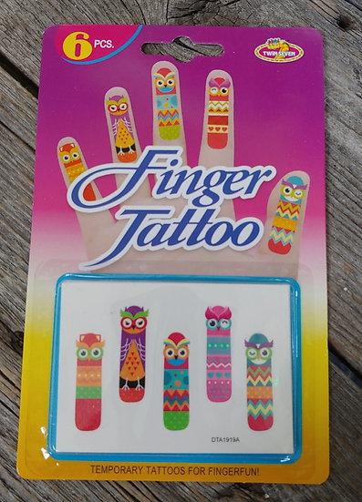 Finger Tattoo - Owls